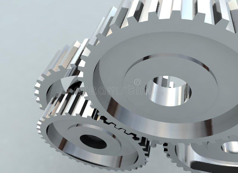 Roda denteada da roda de engrenagem ilustração royalty free