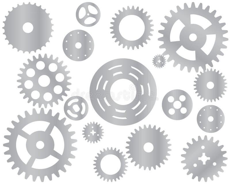 Roda denteada da roda de engrenagem da máquina ilustração stock