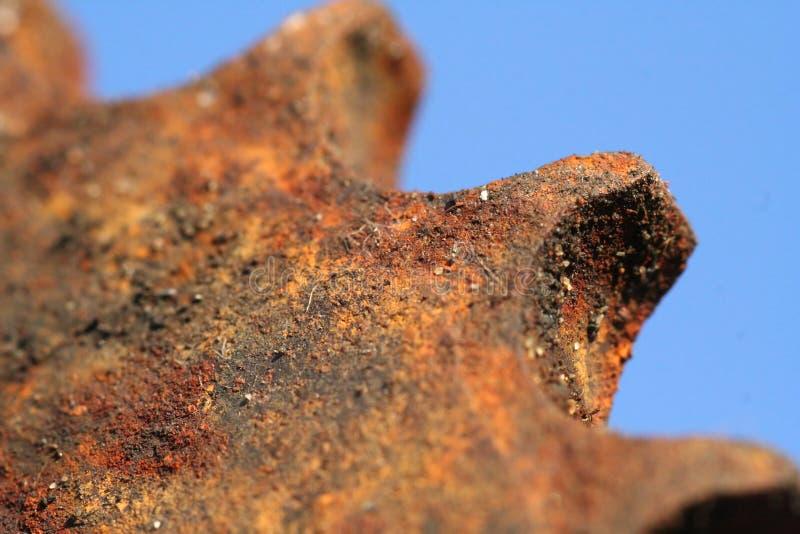 Roda denteada oxidada imagem de stock royalty free