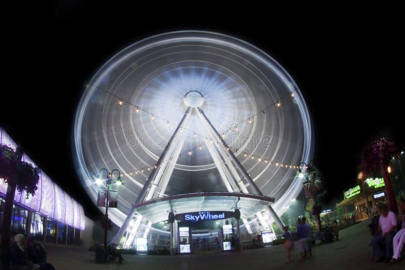 Roda do céu de Niagara Falls imagem de stock