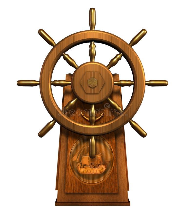 Roda do capitão - inclui o trajeto de grampeamento ilustração do vetor