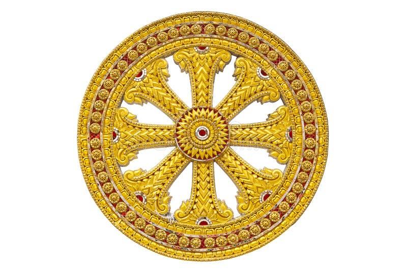 Roda do dhamma do buddhism imagens de stock
