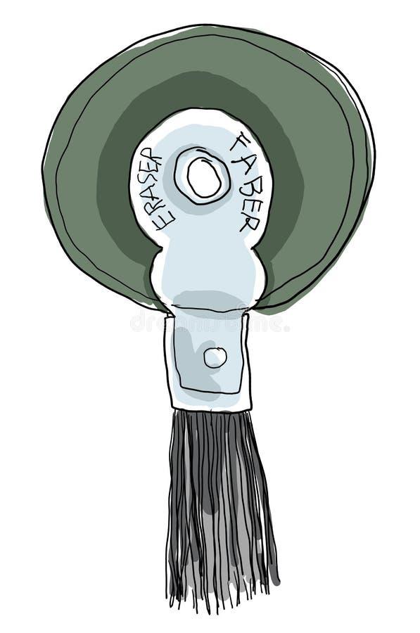 Roda do eliminador com a escova de cerda unida ilustração stock