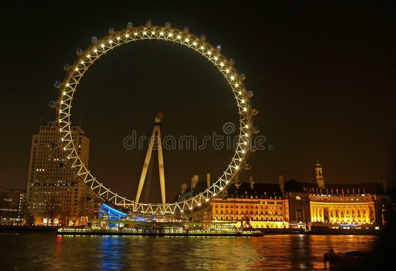 Roda do milênio (olho de Londres) foto de stock