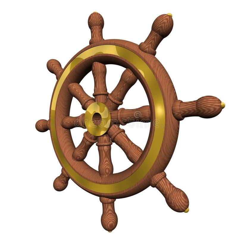 Roda do `s do navio ilustração do vetor