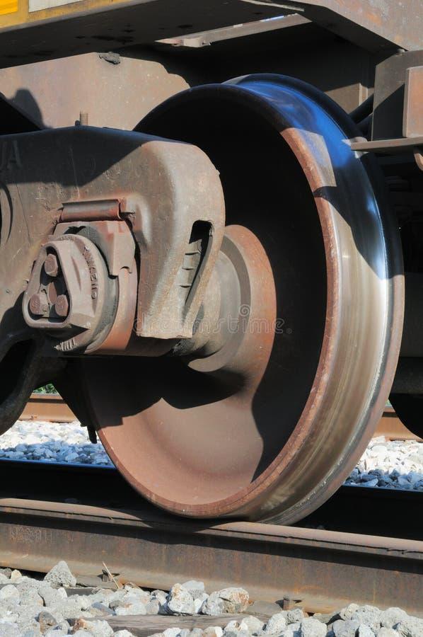 Roda do trem imagem de stock
