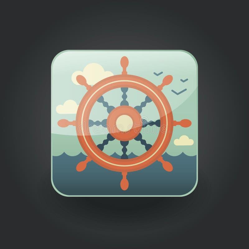 Roda dos ícones do App ilustração stock