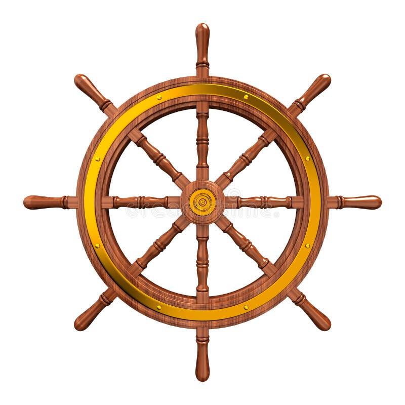 Roda dos navios ilustração do vetor