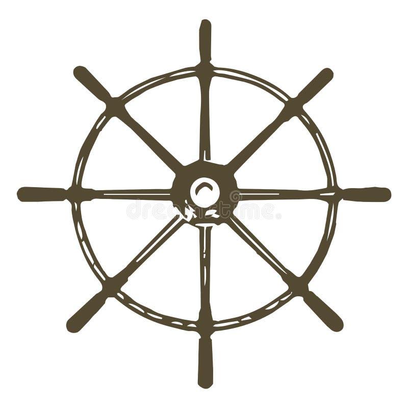 Roda dos navios de navigação ilustração royalty free