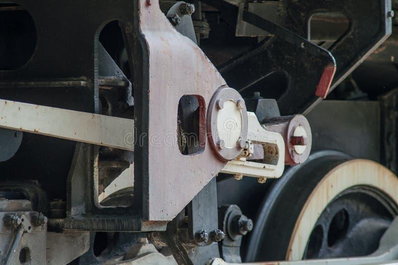 Roda e engrenagem locomotivas imagem de stock