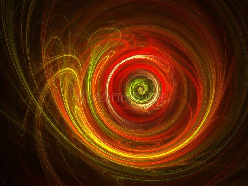 Roda espiral quente ilustração stock