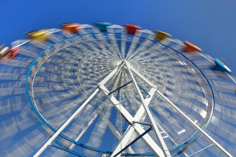 Roda Ferris Pequena Colorida imagem de stock royalty free