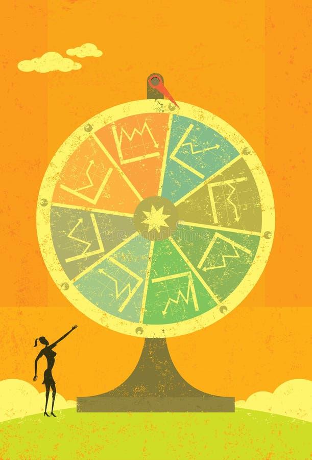 Roda financeira da fortuna ilustração stock