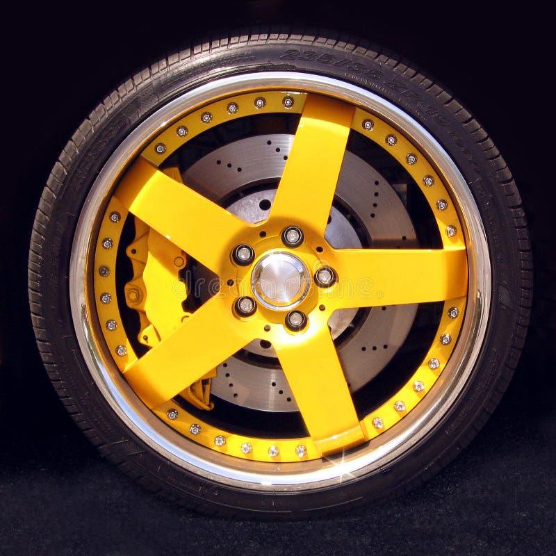 Roda de carro desportivo foto de stock royalty free