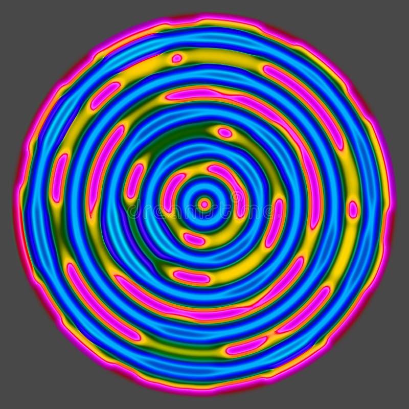 Roda hipnótica ilustração do vetor