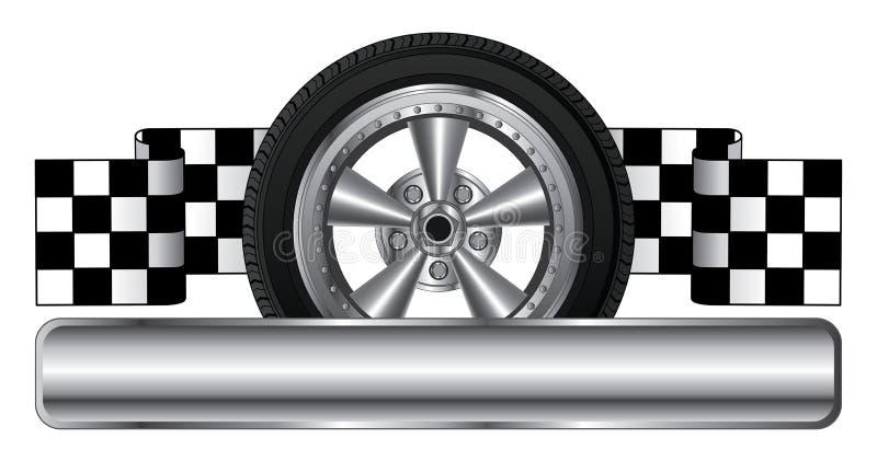 Roda Logo Design ilustração stock