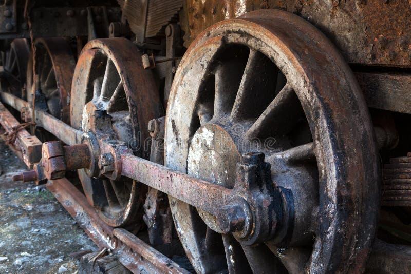 Roda oxidada imagem de stock