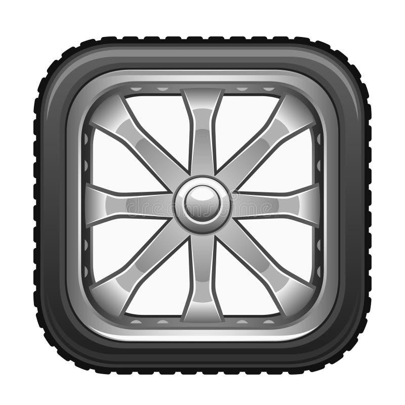 Roda quadrada ilustração stock