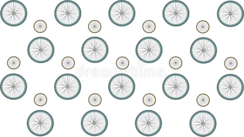 Rodas da bicicleta Teste padr?o ilustração do vetor