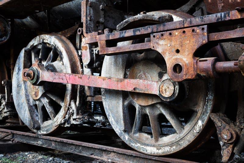 Rodas da locomotiva de vapor velha fotos de stock royalty free