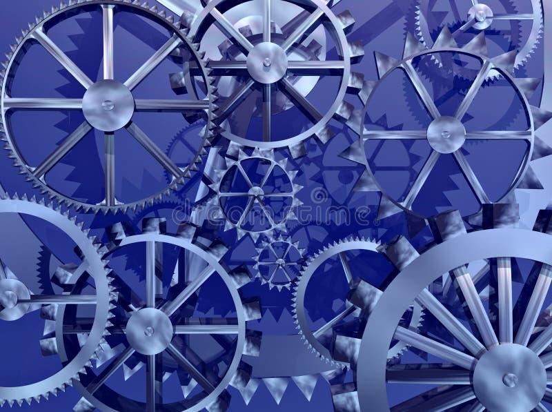 Rodas da maquinaria das engrenagens das rodas denteadas ilustração stock