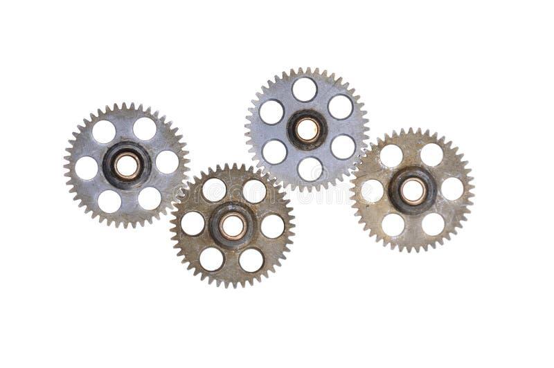 Rodas da roda denteada - engrenagens fotografia de stock