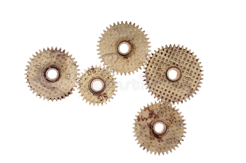 Rodas da roda denteada - engrenagens foto de stock royalty free