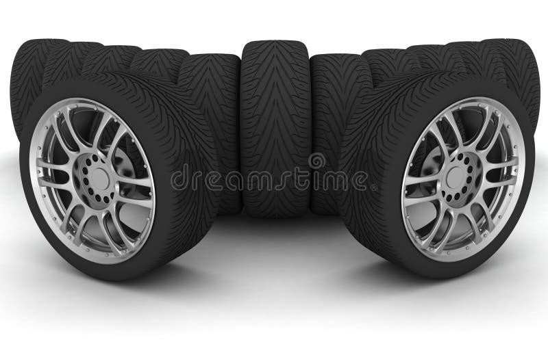 Rodas de carro Seringa do conceito design ilustração do vetor