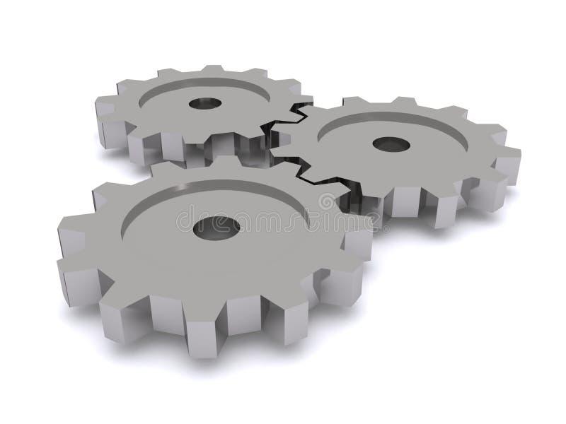 Rodas de engrenagem com rodas denteadas de engrenagem ilustração do vetor