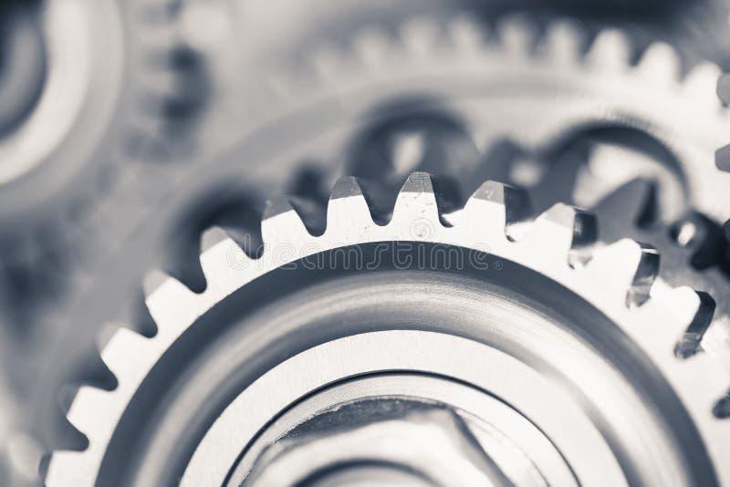 Rodas de engrenagem do motor, fundo industrial foto de stock royalty free