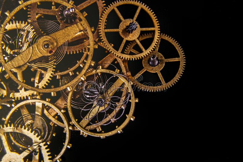 Rodas de engrenagens das rodas denteadas do vintage fotos de stock