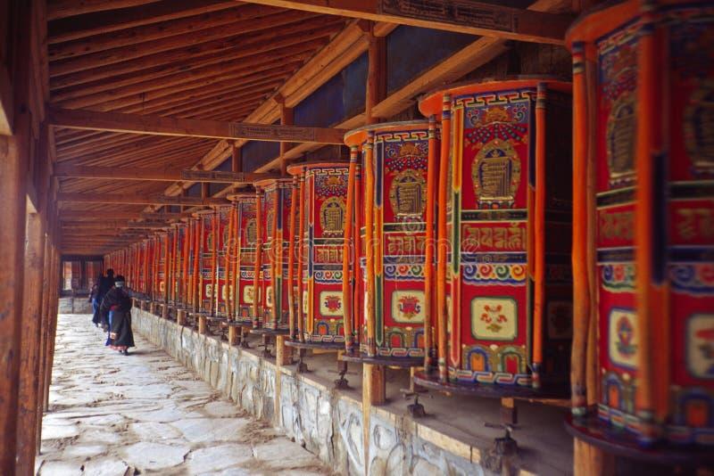 Rodas de oração foto de stock
