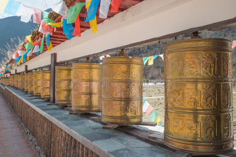 Rodas de oração budistas imagem de stock royalty free