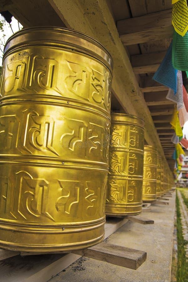 Rodas de oração de Tibet fotografia de stock royalty free