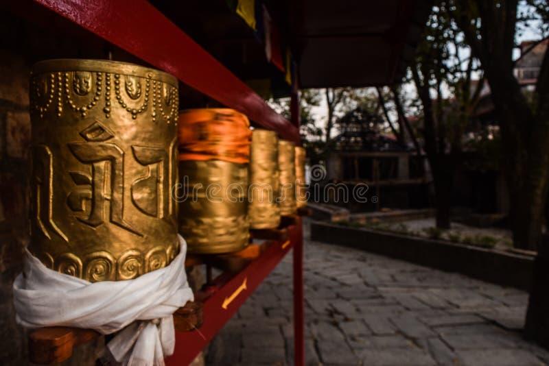 Rodas de oração do budismo foto de stock royalty free