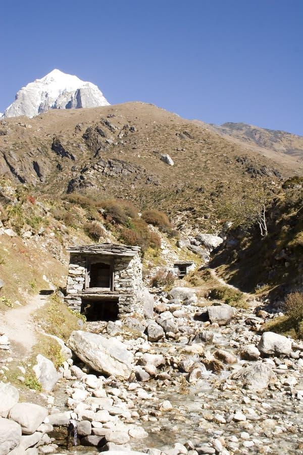 Rodas de oração - Nepal imagens de stock