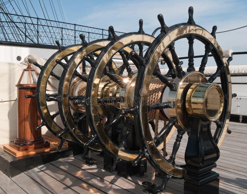 Rodas de Shipâs fotografia de stock