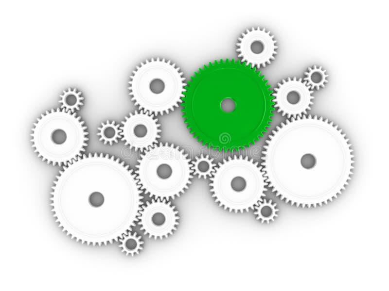 rodas denteadas 3d ilustração do vetor