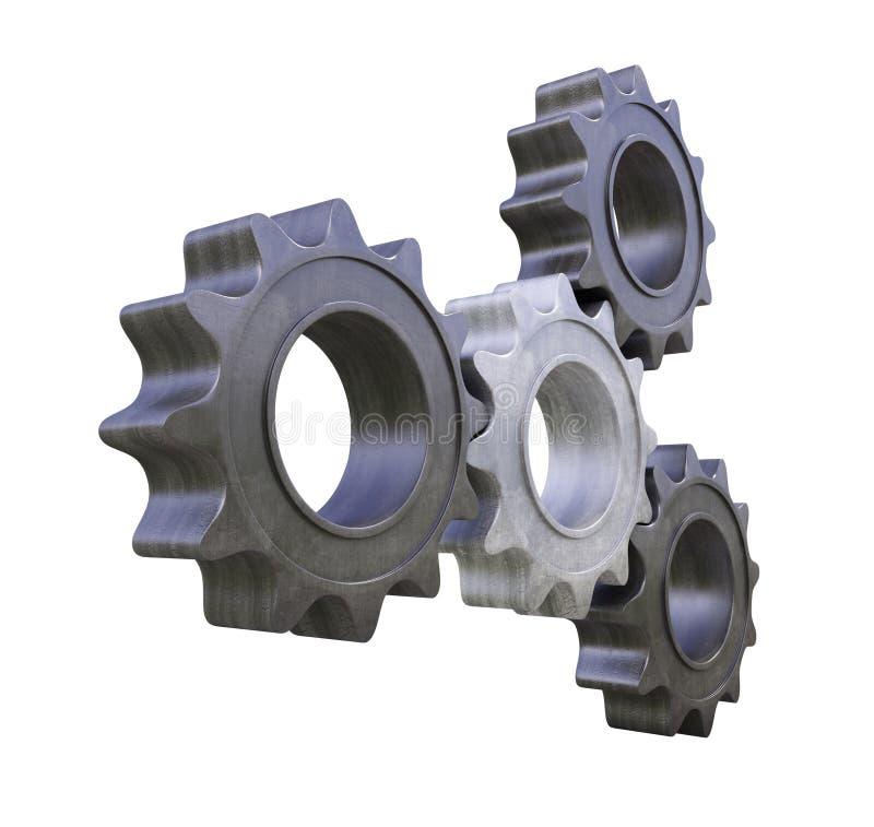 Rodas denteadas do metal ilustração stock