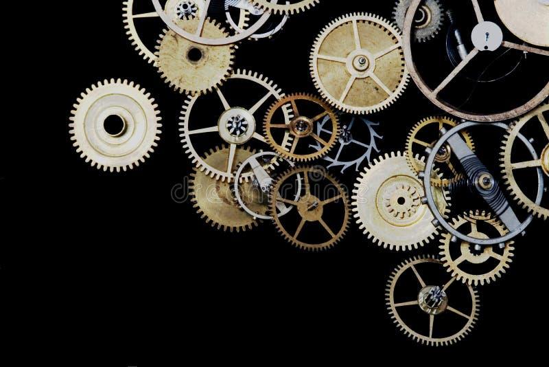 Rodas denteadas do relógio foto de stock royalty free