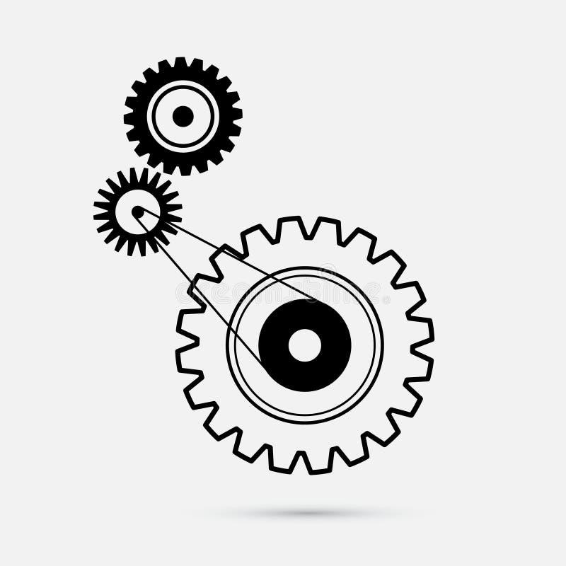 Rodas denteadas - ilustração das engrenagens ilustração do vetor