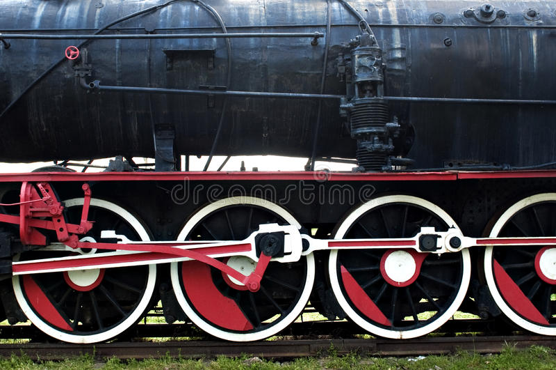 Rodas do trem do vapor do vintage fotografia de stock