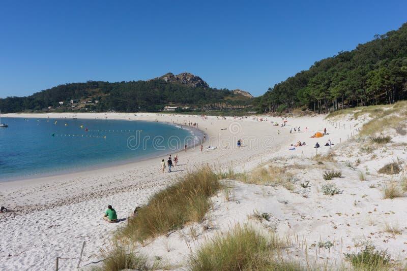 Rodas plaża na Cies wyspie zdjęcie stock
