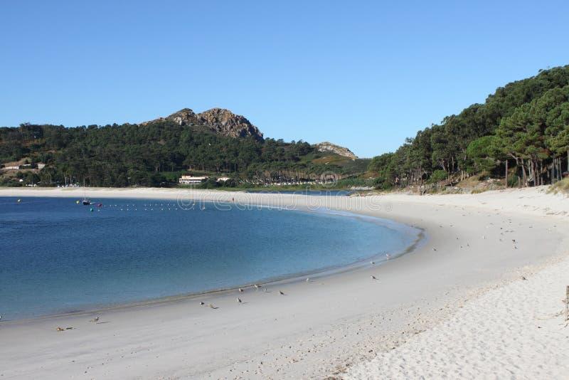 Rodas plaża w Cies wyspach obrazy stock
