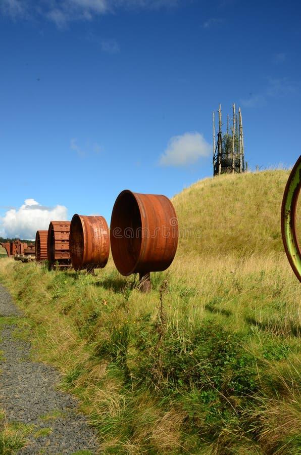 Rodas velhas - regeneração do antigo local Opencast fotografia de stock