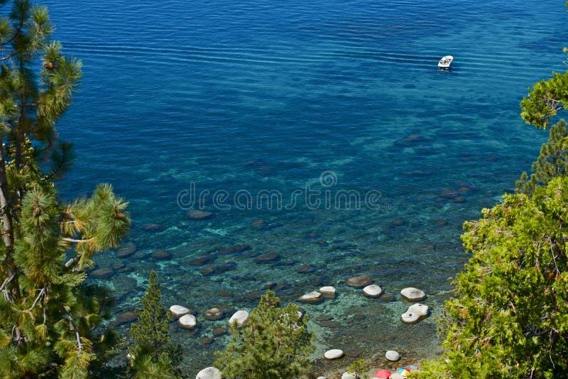 Rodd på Laket Tahoe arkivfoto