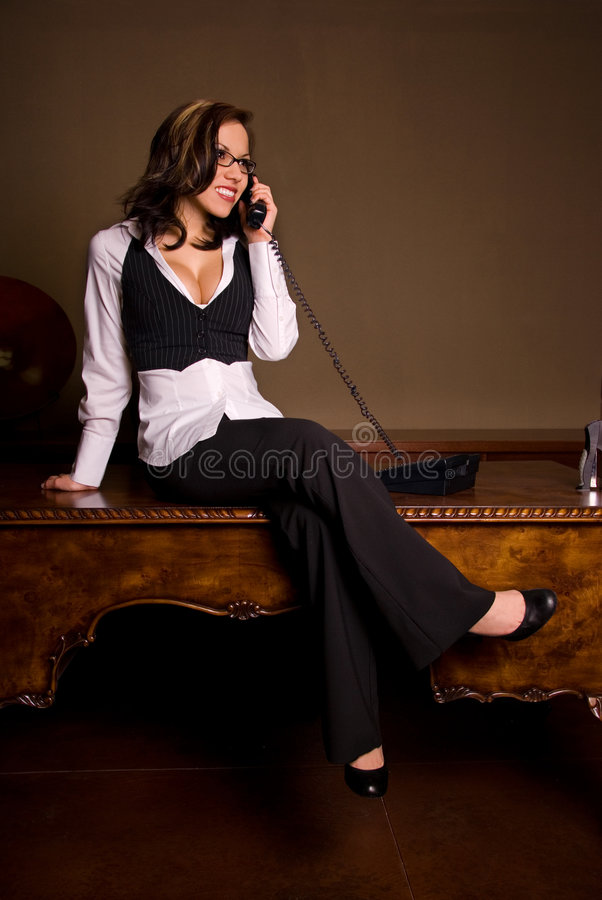 Roddelende secretaresse. stock foto's