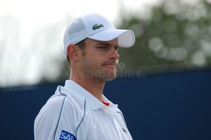 Roddick Andy - Amerikaanse tennisster royalty-vrije stock afbeelding
