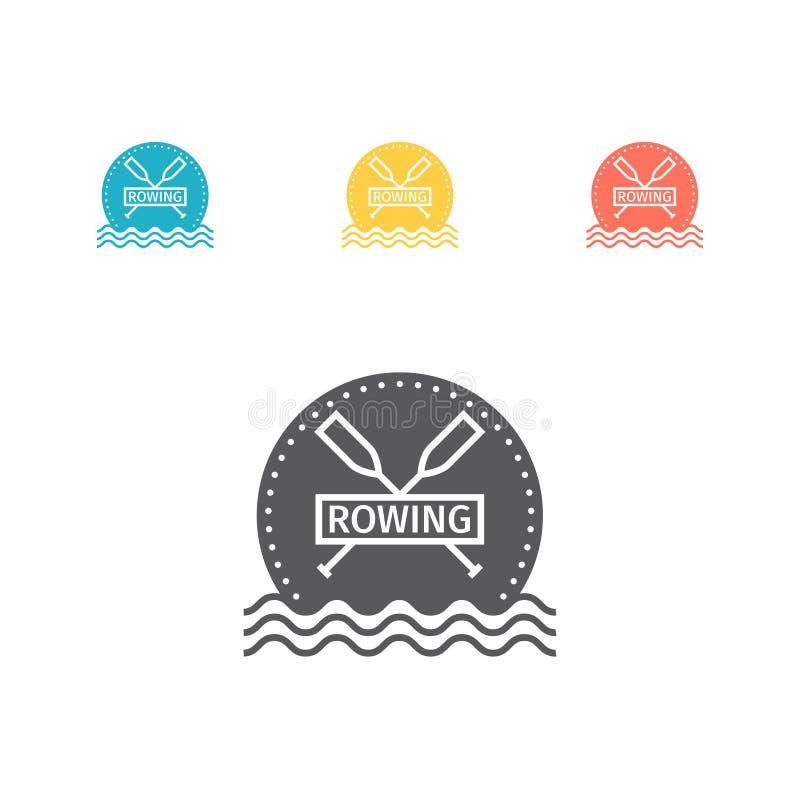 Roddlaglogo isolerad vektorwhite för 8 emblem eps Plan symbol royaltyfri illustrationer