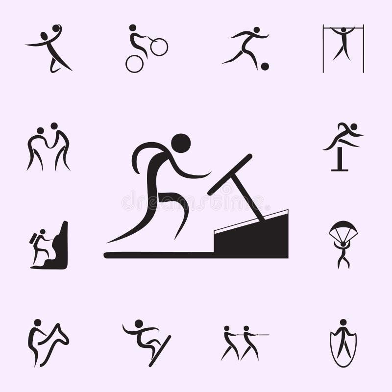 roddsymbol Best?ndsdelar av idrottsmansymbolen H?gv?rdig kvalitets- symbol f?r grafisk design Tecken och symbolsamlingssymbol f?r stock illustrationer